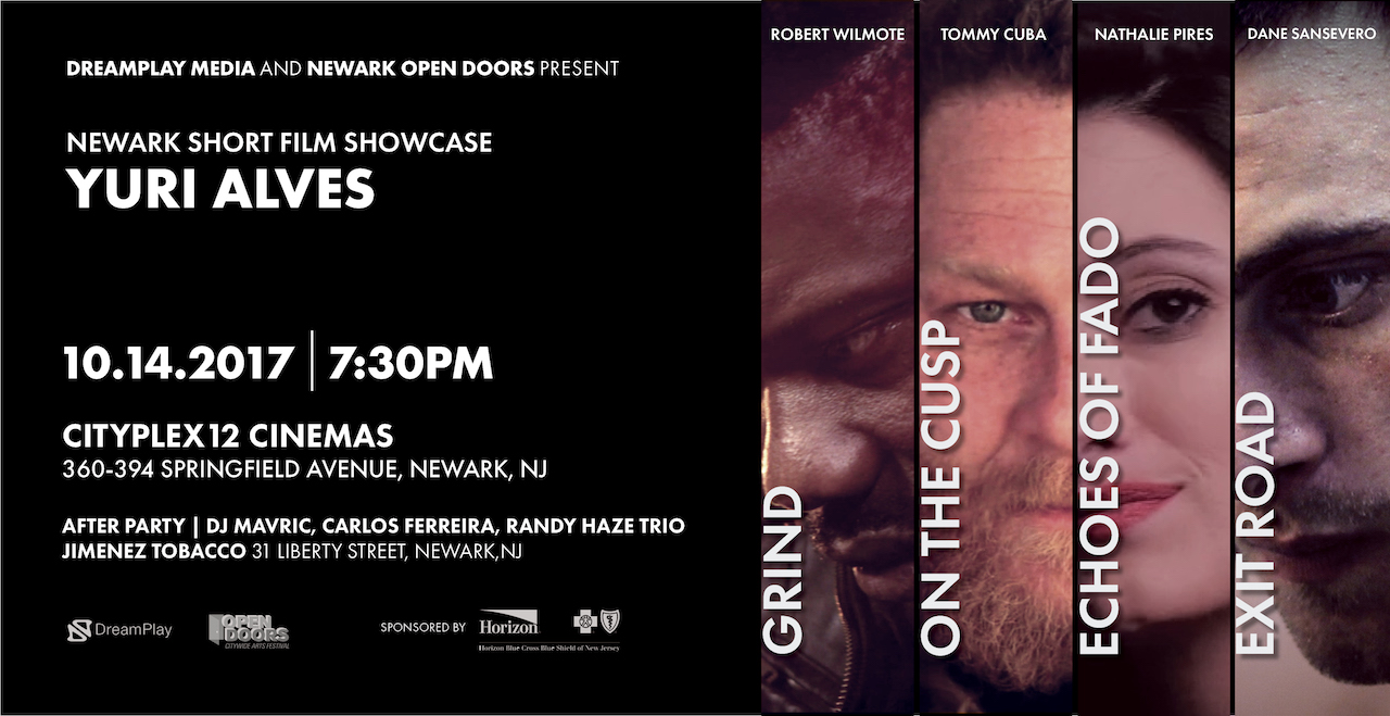newark film showcase, yuri alves, grind, on the cusp, echoes of fado, exit road